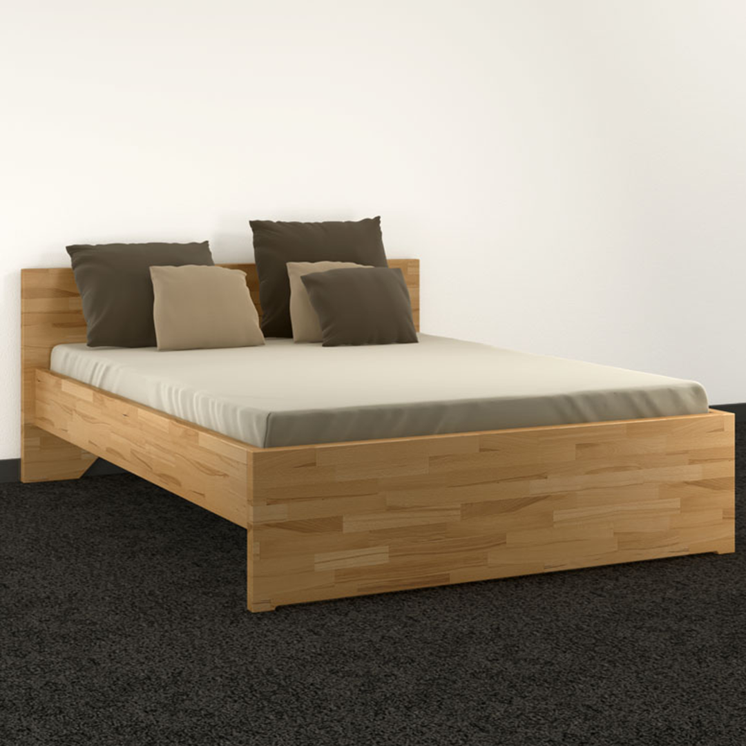doppelbett classic aus 40 mm massivholz zimmerware. Black Bedroom Furniture Sets. Home Design Ideas