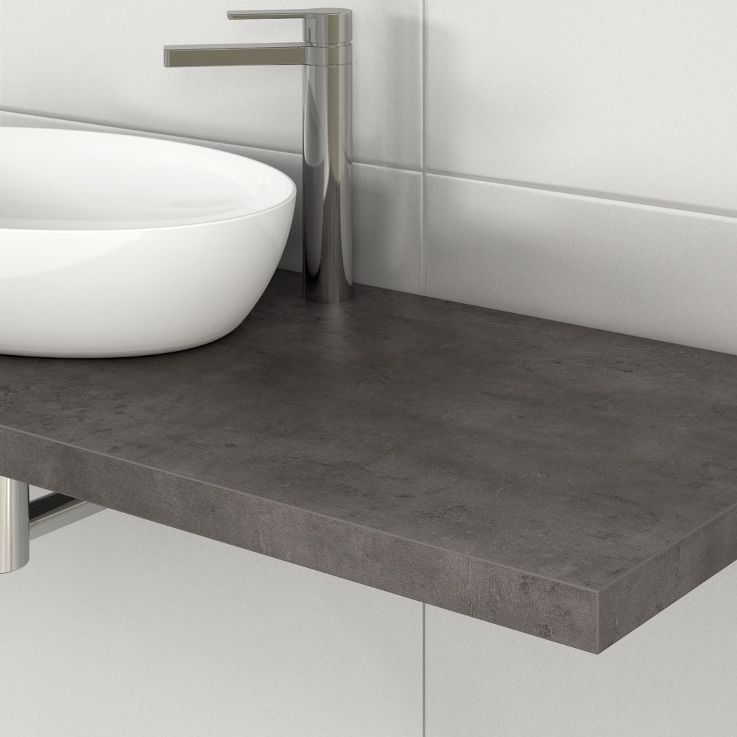 waschtischplatte mit schichtstoffauflage zimmerware. Black Bedroom Furniture Sets. Home Design Ideas